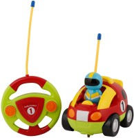 RVOLD Rvold Lovery Cartoon R/C Race Car with Steering Remote Control, Music and Lights Electric Radio Control Toy for Baby Toddlers Kids and Children (Color May Vary)(Multicolor)