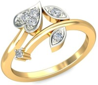 Amogh Jewels 14kt Diamond Yellow Gold ring