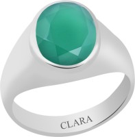 CLARA Certified Haqiq 7.5 cts or 8.25 ratti Bold Sterling Silver Onyx Ring
