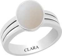 CLARA Certified 3 cts or 3.25 ratti Stunning Sterling Silver Opal Ring
