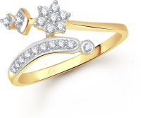 VK Jewels Shining Star Alloy Diamond Yellow Gold Plated Ring