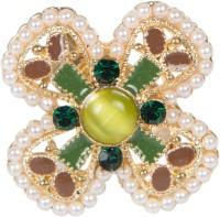 Taj Pearl Floral Alloy Ring