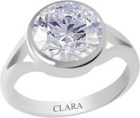 CLARA Certified 3 cts or 3.25 ratti Zoya Sterling Silver Zircon Ring