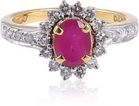 Jisha 18kt Diamond, Ruby Yellow Gold ring