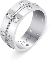 CLARA Sterling Silver Swarovski Crystal Rhodium Plated Ring