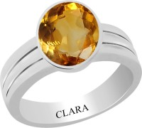 CLARA Certified Sunehla 8.3 cts or 9.25 ratti Stunning Sterling Silver Citrine Ring