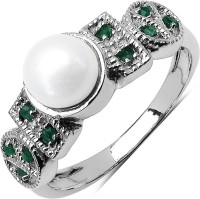 Johareez Sterling Silver Pearl Sterling Silver Plated Ring