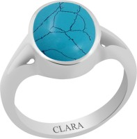 CLARA Certified Firoza 3 cts or 3.25 ratti Zoya Sterling Silver Turquoise Ring