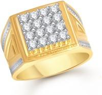 Meenaz Men Jewellery Gold Diamond Gents Rings for Men Boys Boyfriend Husband Birthday Gifts Valentine Gifts Ring Jewellery for Men -FR457 Stone, Brass Cubic Zirconia Yellow Gold Plated Ring