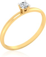 IskiUski Dual Tone 14kt Swarovski Crystal Yellow Gold ring