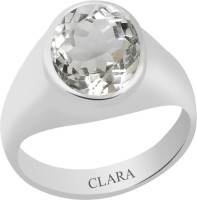CLARA Certified Isphetic 9.3 cts or 10.25 ratti Bold Sterling Silver Crystal Ring