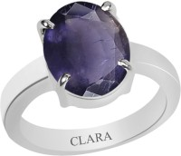CLARA Certified Neeli 5.5 cts or 6.25 ratti 4 Prongs Sterling Silver Ring