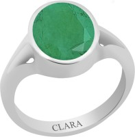 CLARA Certified Panna 3 cts or 3.25 ratti Zoya Sterling Silver Emerald Ring