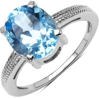 Johareez Sterling Silver Topaz Sterling Silver Plated Ring