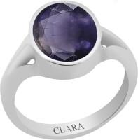 CLARA Certified Neeli 4.8 cts or 5.25 ratti Zoya Sterling Silver Ring