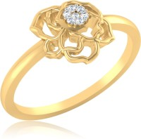 IskiUski Sparkling Rose 14kt Diamond Yellow Gold ring