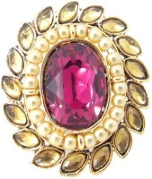 9blings Latest Design Zinc Cubic Zirconia Yellow Gold Plated Ring