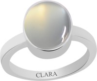 CLARA Certified 6.5 cts or 7.25 ratti Elegant Sterling Silver Moonstone Ring