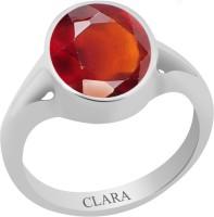 CLARA Certified Hessonite 4.8 cts or 5.25 ratti Zoya Sterling Silver Garnet Ring