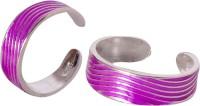 abhooshan Enamel, Sterling Silver Toe Ring Set