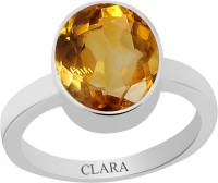 CLARA Certified Sunehla 9.3 cts or 10.25 ratti Elegant Sterling Silver Citrine Ring