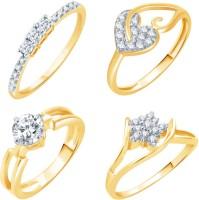 Sukkhi Alloy 18K Yellow Gold Plated Ring Set
