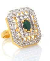 alysa Virupa Silver, Copper, Brass Cubic Zirconia Rhodium, Gold Plated Ring