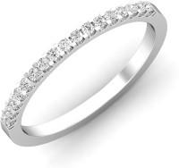 Chandrika Pearls Silver Diamond Platinum Plated Ring