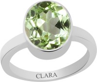 CLARA Certified 3 cts or 3.25 ratti Elegant Sterling Silver Peridot Ring