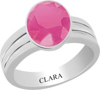 CLARA Certified Manik 4.8 cts or 5.25 ratti Stunning Sterling Silver Ruby Ring