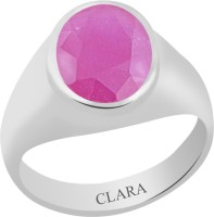 CLARA Certified Manik 4.8 cts or 5.25 ratti Bold Sterling Silver Ruby Ring
