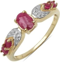 Johareez Sterling Silver Ruby Sterling Silver Plated Ring