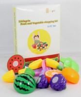 Little Grin Food Heaven Vegetable Fruit Chopping Kit Set Of 8 Pcs For Kids Toy Gift Knife