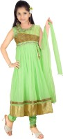 Trendyy Girls Self Design Kurta & Salwar(Stitched)