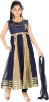 Trendyy Girls Self Design Kurta & Salwar(Stitched)