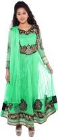 JM Luxury Embellished Kurta & Churidar(Stitched)