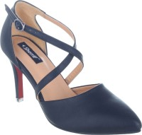Sherrif Shoes Women Blue Heels