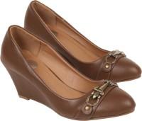 iLO Women Brown Wedges