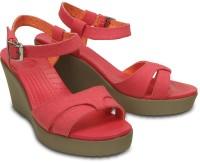 Crocs Women Pink Wedges