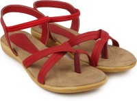 Ortan Girls Flats(Red)