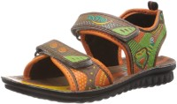 Footfun by Liberty Boys & Girls Velcro Sports Sandals(Brown)