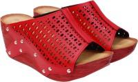iLO Women Red Wedges