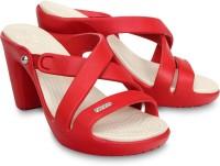 Crocs Women Red Heels