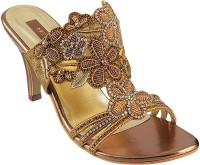 Metro Women 28-Antiq-gold Heels