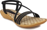 Ortan Girls Flats(Black)