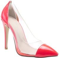 Minty Meets Munt Women Neon Pink Heels
