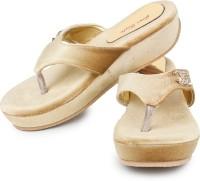 Star Style Women Gold Flats