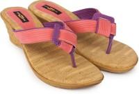 Shezone Women Beige, Pink Wedges