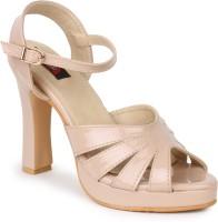 Naisha Women 5,Beige Heels