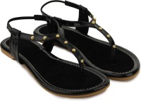 Shezone Women Black Flats